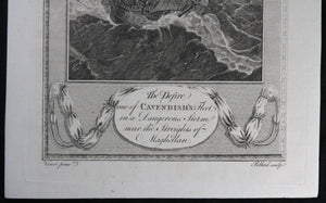 "1788 Pollard engraving ""The Desire, one of Cavendish's Fleet"""