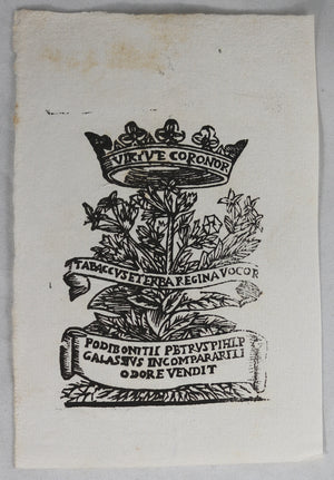 17th century advertising print for tobacco #3