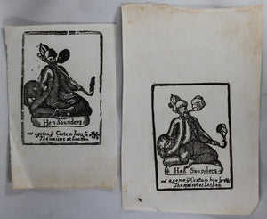 17th century advertising prints for tobacco agent Custom House London