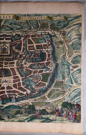 17th century Dutch  map of Jerusalem by Visscher (1648?)