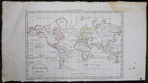 1802 Blondeau world map  carte du monde