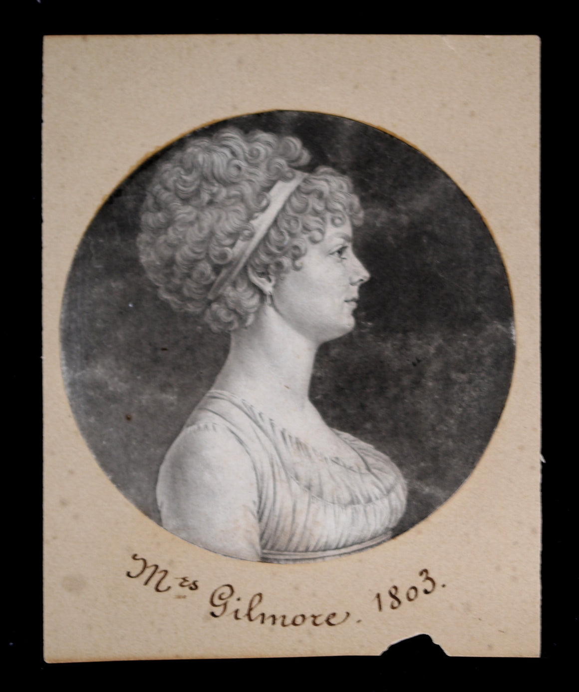 1803 portrait Mrs Gilmore (Baltimore) by Charles de Saint-Mémin