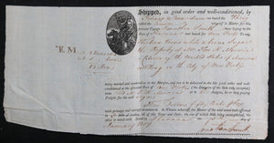 1807 Havana illustrated Bill of Lading for sugar, to New York City