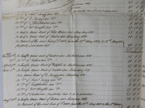 1813 financial accounts by guardian Welfitt Manby Hall, Lincolnshire