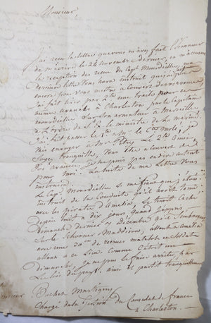 1817 signalement de New York d'un capitaine Français - Affaire Ile Amélia