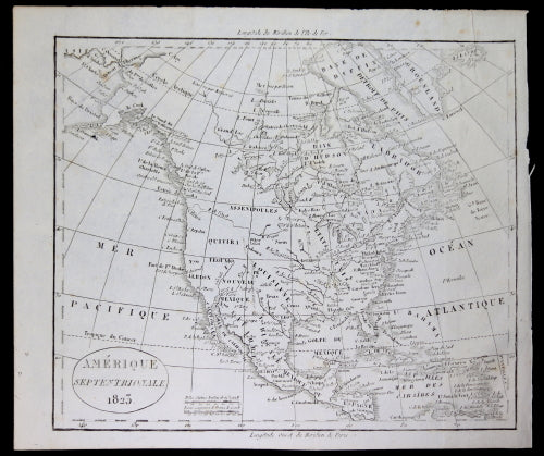 1823 map of North America (French)