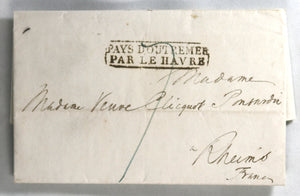 1835 letter from New York to Veuve Cliquot Ponsardin (Champagne) France