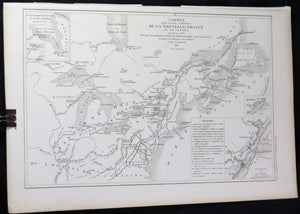 1851 French map of New-France up to 1763 by Dussieux