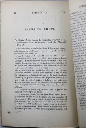 1852 Annual Report Massachusetts State Prison