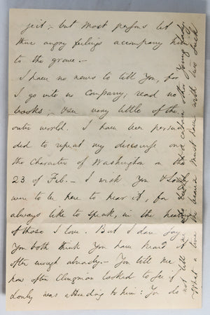 1857 personal letter from Edward Everett, famed politician and orator