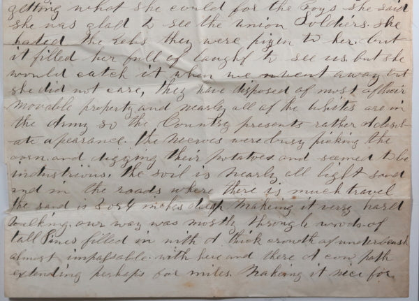 1862 Civil War letter soldier 85th NY State Volunteer, near Suffolk VA