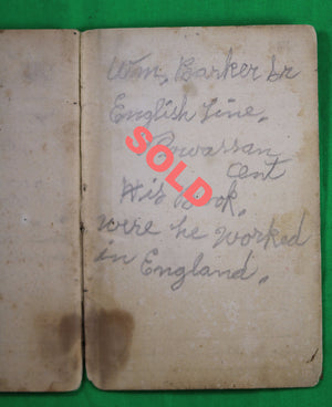 1862 UK Great Northern Railway manual - Rules for Platelayers & Gatekeepers, signed