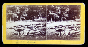 1863 Battle of Gettysburg – stereoscopic view of Confederate dead