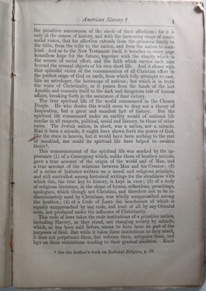 1863 pamphlet 'DOES THE BIBLE SANCTION AMERICAN SLAVERY' Goldwin Smith