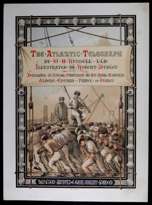 "1865 set of 15 lithographs from ""The Atlantic Telegraph"" W.H. Russell"