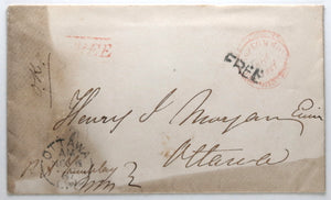 1867 signed envelope P.A. Tremblay, Member of 1st Canadian Parliament