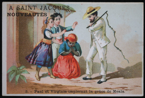 1877 France chromo image esclavage / ad card with slavery image