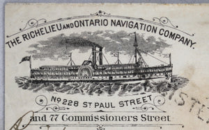 1882 Canada registered letter with beautiful steamboat advertising