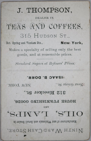 1882 NYC Bedford St. Sunday School and Trade Card