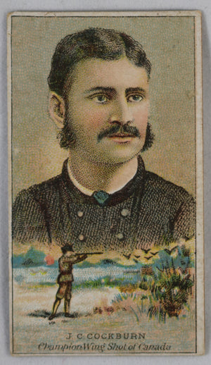 1887 W.H. Kimball Victorian cigarette card - Sports (Canada)