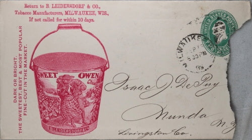 1889 advertising cover for Red Clover Fine-Cut tobacco, Milwaukee WI