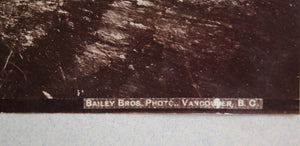 1890s Bailey Bros. photo CPR  train in Albert Canyon, British Columbia
