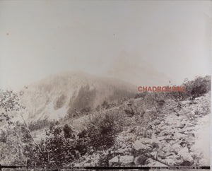 1890s Bailey Bros. photo Cathedral Mtn. CPR British Columbia (Canada)