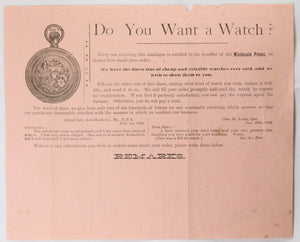 1890s Canadian Watch and Jewelry Co. Toronto forms