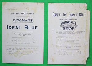 1891 large advertising cards Dingman's Soap