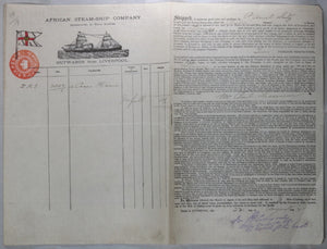 1892 Liverpool bill of lading, hardware to Loango Africa #2