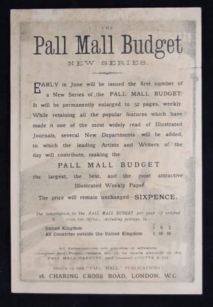 ~1894 Greiffenhagen flyer for Pall Mall Budget (UK)