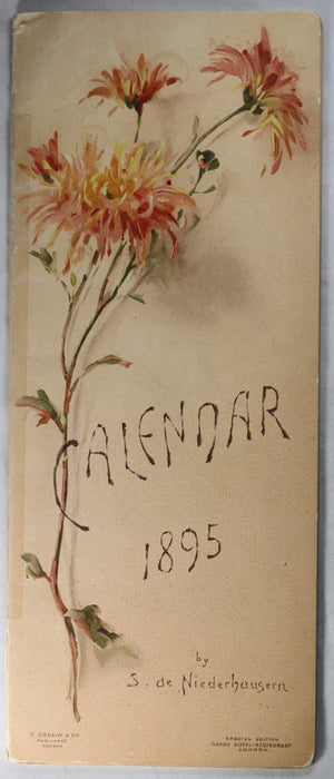 1895 Calendar by S. de Niederhausern for Savoy Hotel London