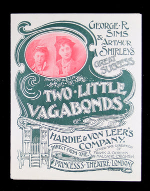 1896-7 Advertising flyer for Two Little Vagabonds play, London UK