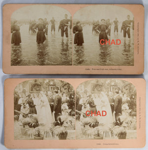 1896/7 Set of 3 stereoscopic photos by Kilburn