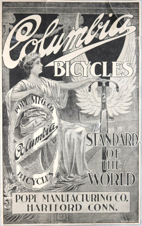 1897 magazine advertising for Columbia Bicycles – Pope Manufacturing