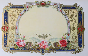 1897 salesman sample cigar label - flowers #1