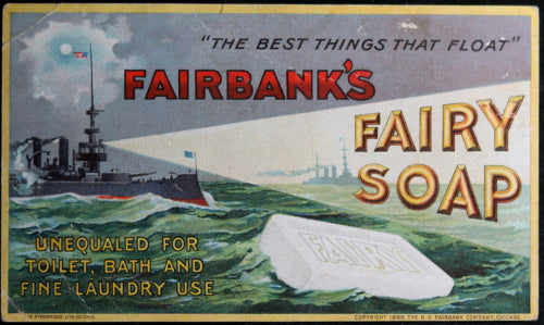 1898 Advertising card for Fairbanks Fairy Soap (USA)