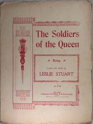 1898 British patriotic music sheet 'The Soldiers of the Queen' Boer War