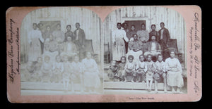 1898 stereoscopic view of Black family in the US New South