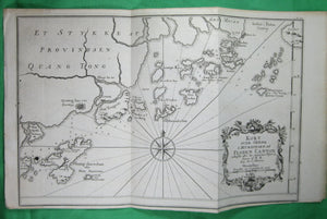 18th Danish map of Islands at the mouth of the Canton River (China)