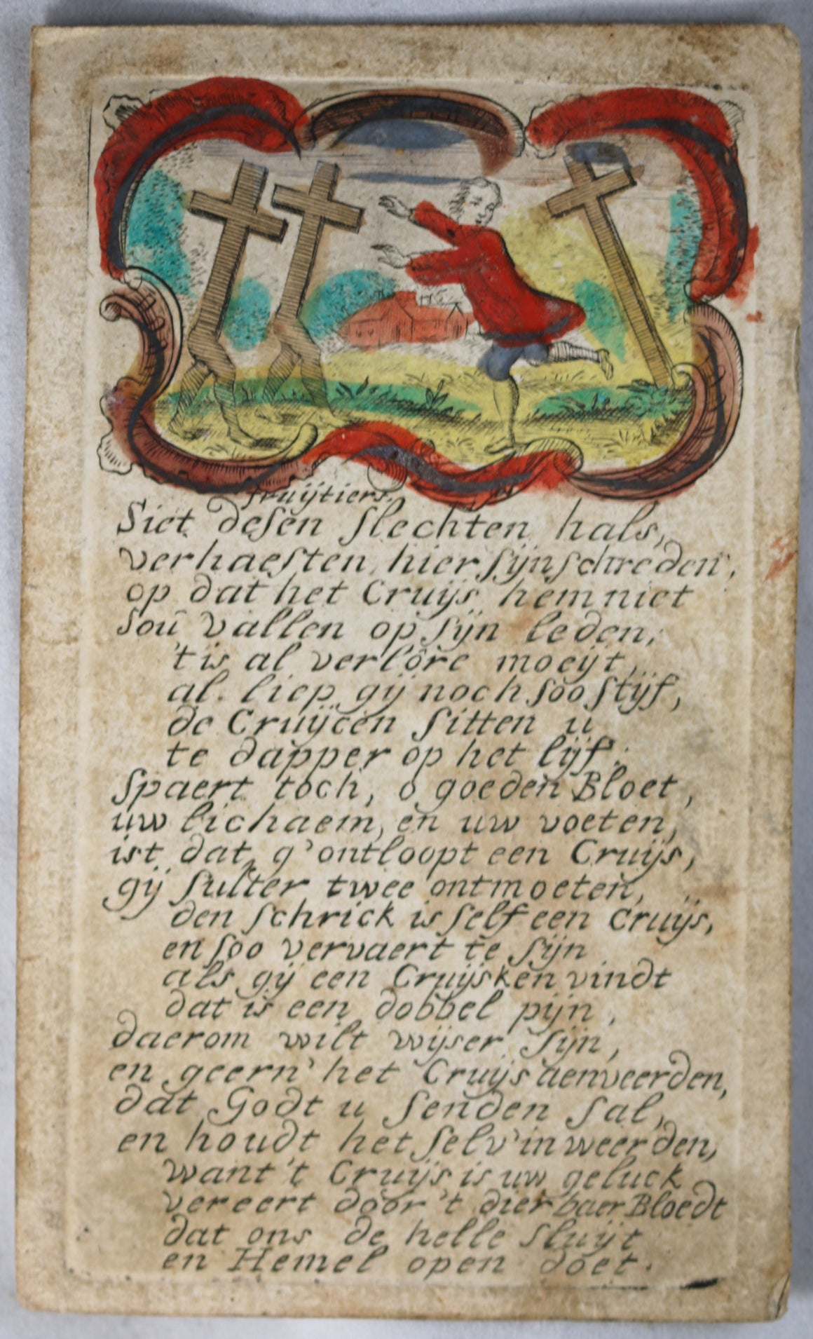 18th Dutch religious card