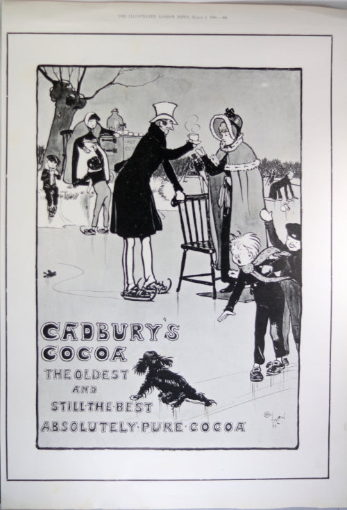 1900 full page UK  newspaper advertising for Cadbury's Cocoa #2