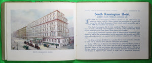 @1900 pamphlet Bailey & South Kensington Hotels London UK