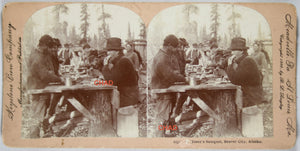 1900 set of two stereoscopic photos of Alaska gold rush