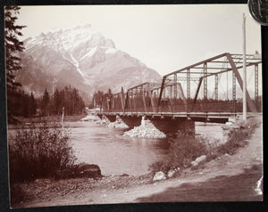 1900s CPR & Cascade Mountain Banff Alberta photo J.H. Clarke