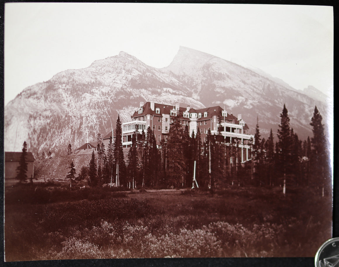 1900s CPR Hotel Banff Alberta photo J.H. Clarke