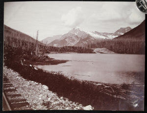 1900s CPR and Wapta Lake, Hector, B.C. photo J.H. Clarke