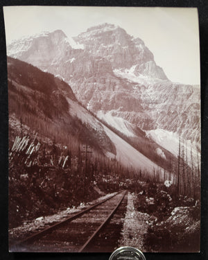 1900s Mount Stephen British Columbia CPR photo - J.H. Clarke