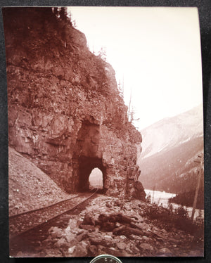 1900s CPR Tunnel on Big Hill, Field, British Columbia photo J.H. Clarke