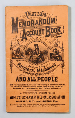1901 Dr. Pierce's Memorandum & Account Book for Farmers, Mechanics